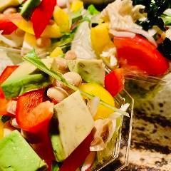 彩り野菜と豆腐の大豆サラダ
