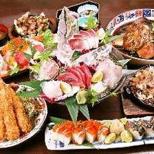 季節の魚介や鍋を囲んで盛り上がろう