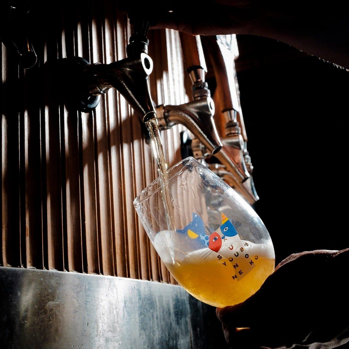 軽井沢直送の樽生クラフトビール