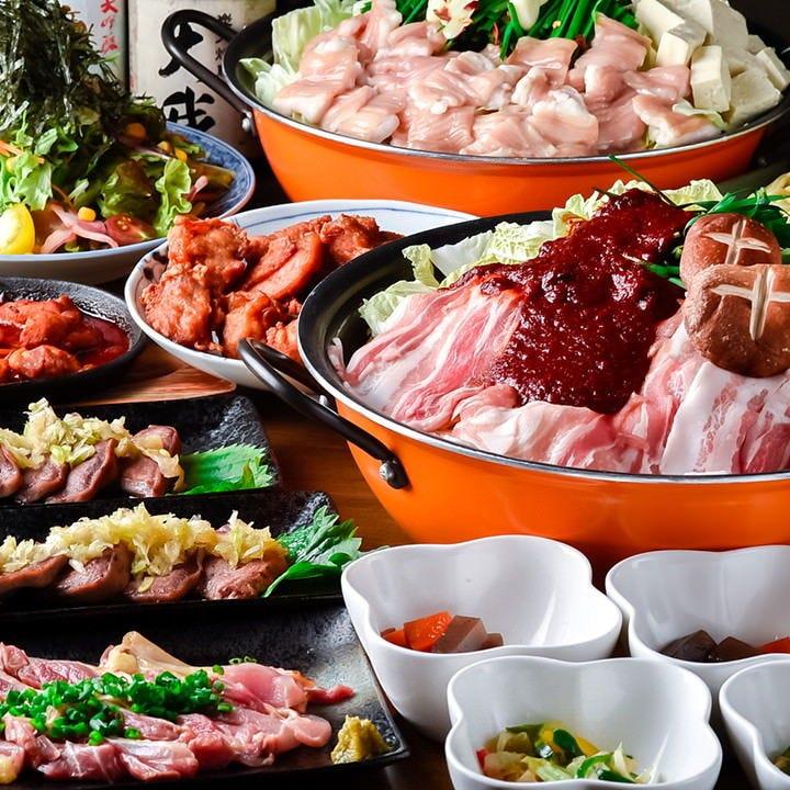 選べる鍋料理や自慢の串も味わえる!