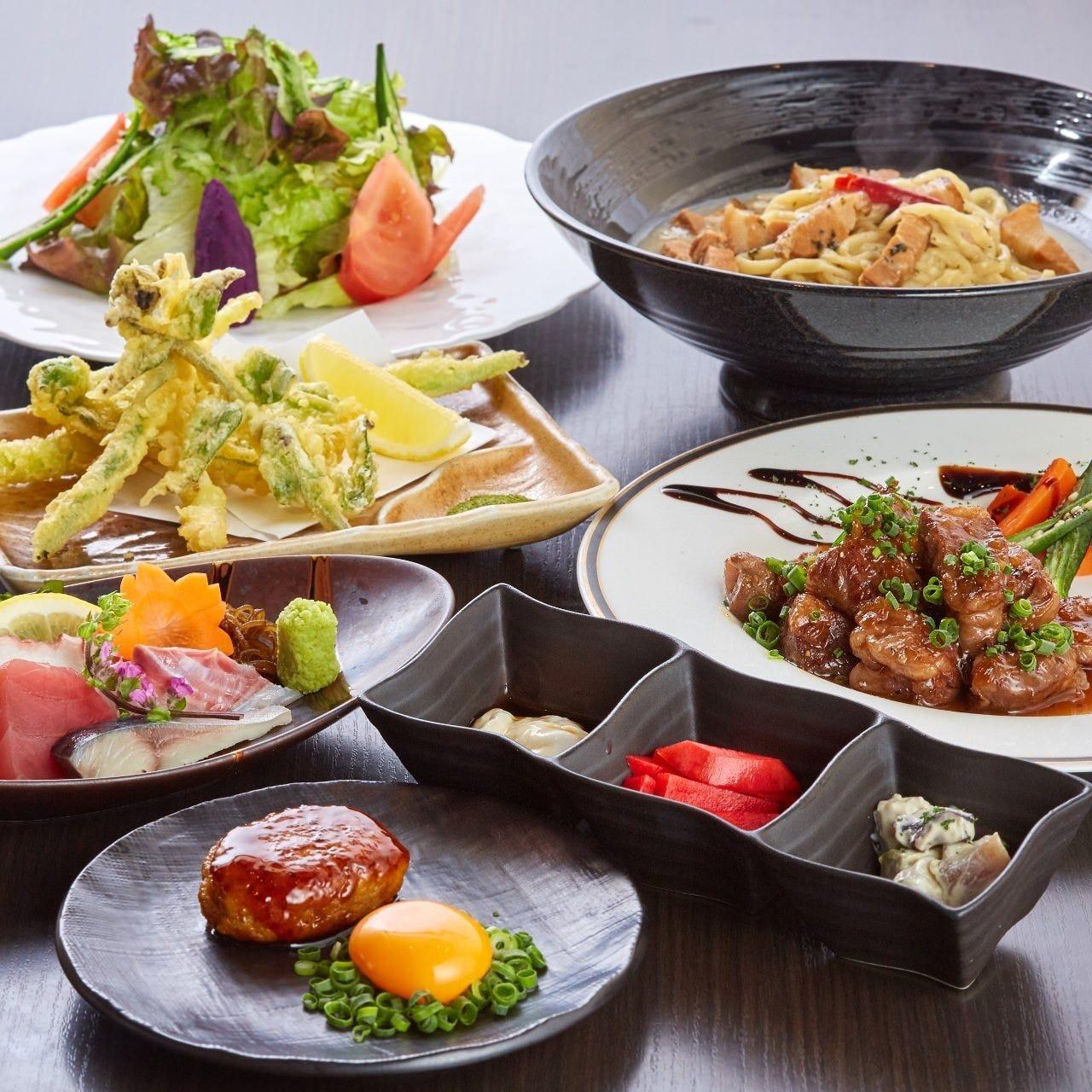 旬食材のお料理を囲んでご宴会を満喫