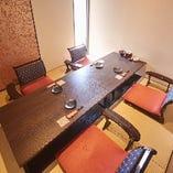 接待やデートに最適な掘りごたつ席完全個室(~4名様×3部屋)