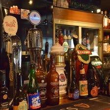 最大12種類の海外樽生ビール