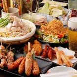 もつ鍋2H食べ飲み放題コース4,000円(税抜)は通年大人気です!