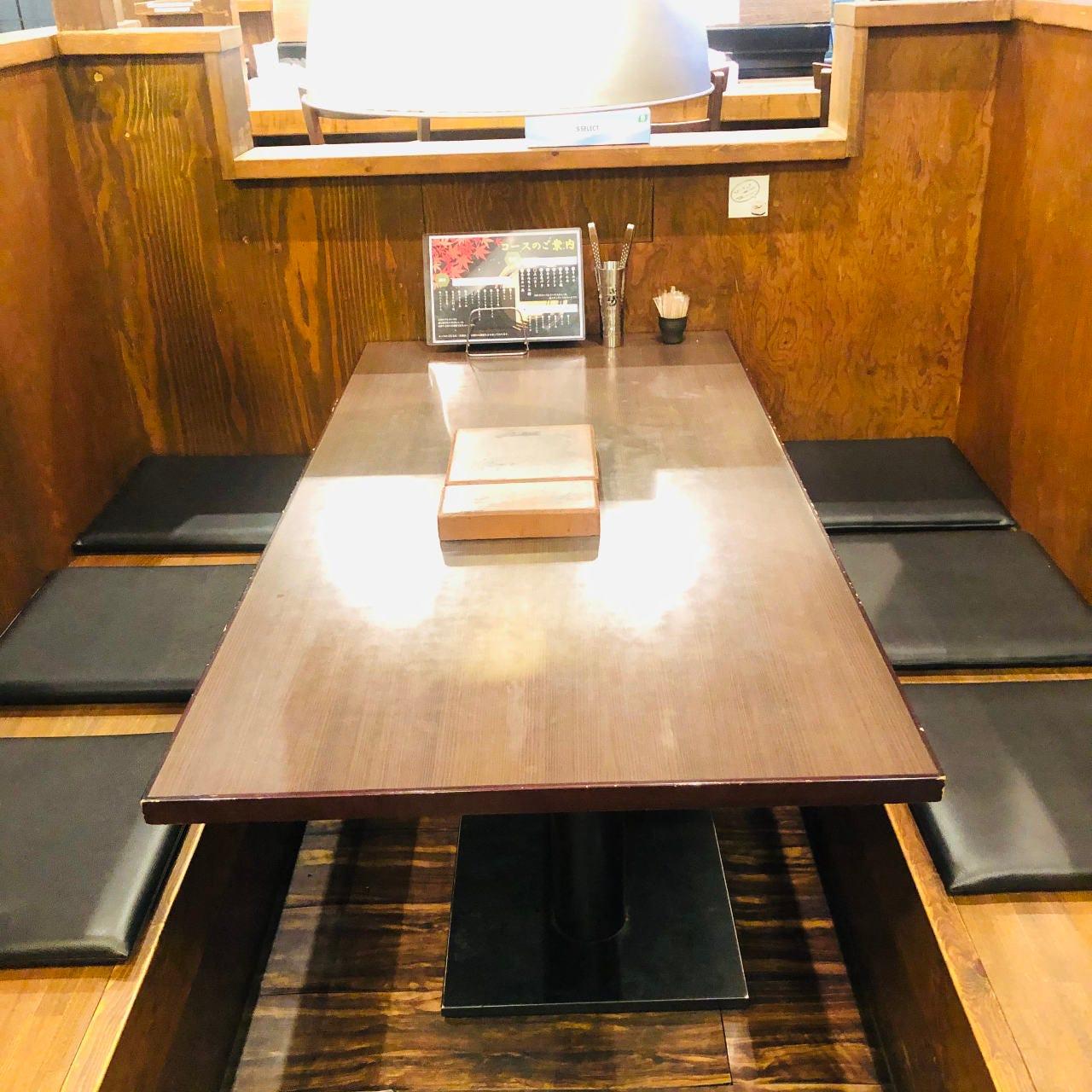 テーブル席・2名様~6名様