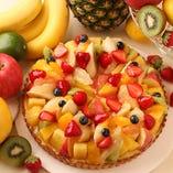 新鮮なフルーツを贅沢に使用