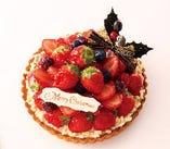 苺のクリスマスタルト(ホワイト)