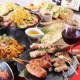 各種串焼きや鶏料理に自信アリ。是非コースでご堪能ください!