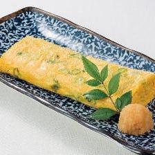 京九条葱たっぷりの出汁巻き玉子