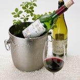 ワインを多数取り揃えております。