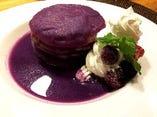 紫芋を使用したウベ風デザート☆