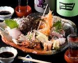 玄海産の新鮮な魚介を堪能。