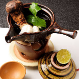 鱧と松茸の潮汁仕立て