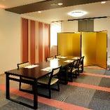 【完全個室】2階:テーブル席(最大30名様)
