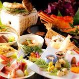 会席料理【琴-こと-】〈全15品〉10,000円(税抜)