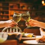【シーン】 飲み会や女子会から大切な記念日など様々な用途に◎