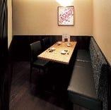 個室は大小様々ご用意。周りを気にせずお食事できます。