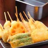当店でたっぷり串カツが堪能できる食べ放題コースがおすすめ!