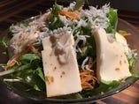 豆腐とジャコのYUTORIサラダ
