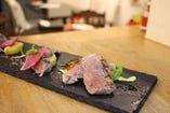 国産牛ロース肉のタリアータ