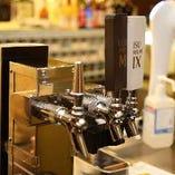 毎日丁寧に除菌&洗浄!美味しい生ビールを提供いたします!