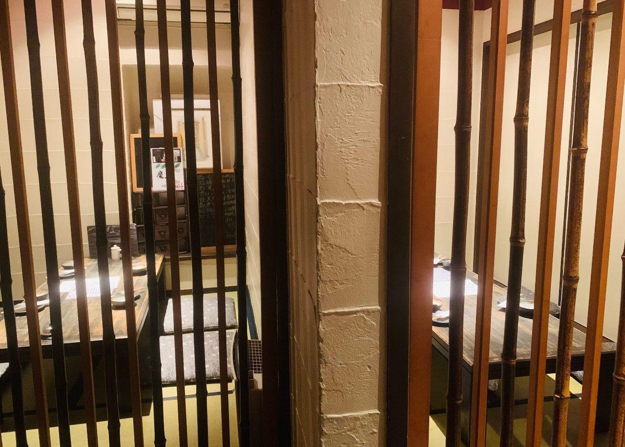 2階は独立したお座敷4部屋と安心安全な個室対応てます。