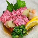 黒毛和牛タタキポン酢 1,190円