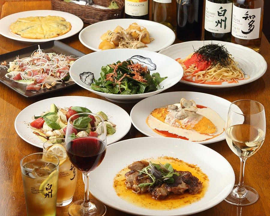【人気NO1】お料理全8品+プレモル含む2.5H飲み放題付コース