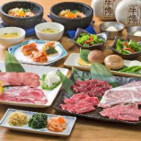 自慢の米沢牛や厳選肉を飲み放題付で味わえるコース5,000円~