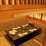 掘りごたつ個室【3~4名様×11部屋】ご家族でのお食事や少人数での接待・宴会に