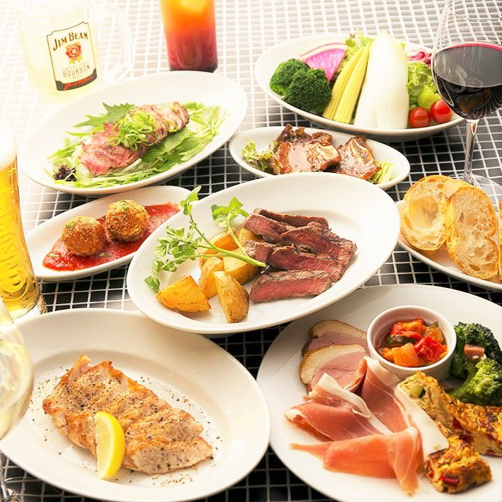 肉料理を楽しむ♪飲放題付3,500円~