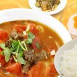 トマト牛肉麺セット