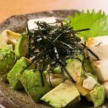 アボカドと豆腐の和え物