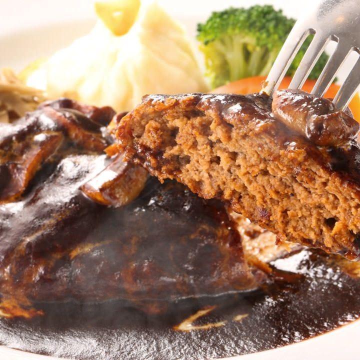 肉汁溢れだす♪ボリューム満点 デミグラスソースハンバーグ