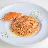 ワタリガニのトマトクリーム