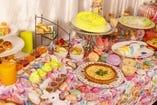 【3・4月】【日曜日限定】ハチャメチャイースタースイーツビュッフェ ~アリスのカラフルエッグハント~