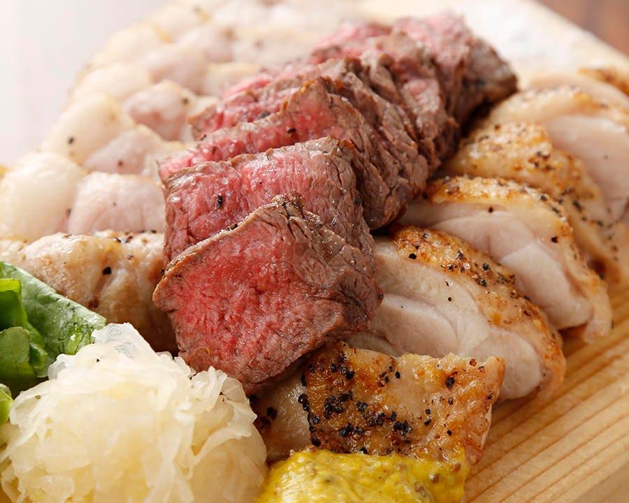 北海道産肉盛り3種