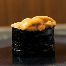 新宿の一等地で鮨をお楽しみください