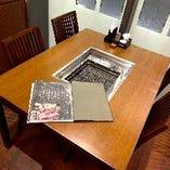 広々したテーブル席は1~4名様用