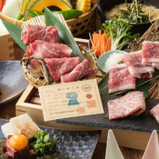 神戸牛と厳選黒毛和牛の超絶美味な「焼きしゃぶ」。誕生日や記念日など特別なひとときに花を添える彩コース