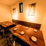 4★【個室で宴会】 まったりとお酒とお料理を楽しめるくつろぎのプライベート空間