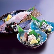 新鮮!いけすの魚を調理