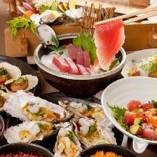 【要予約】勝浦港直送の生マグロ他デザートまで約40種類が食べ放題!「オーダーバイキング」