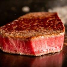 《8,800円コース》A5黒毛和牛と鮮魚の鉄板焼きコース 11品