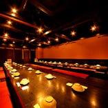 【大宴会場完備】なので少し多めの飲み会でも広めのお席をご用意