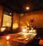 扉付き完全個室!気の合う仲間と安心して!飲み会・食事向き 3~4名様用完全個室