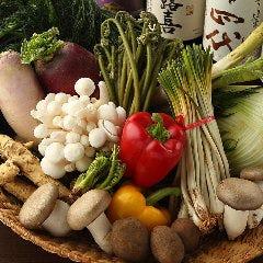 店主(料理長)の故郷の八ヶ岳野菜