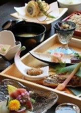 ◆【竹の膳】秋味茶碗蒸,鴨と蕎麦団子の治部煮,ハゼと木野子の天ぷら,せいろ蕎麦など旬素材の会席コース♪