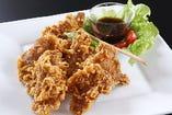 豚肉の天ぷら~薬味ソース添え~