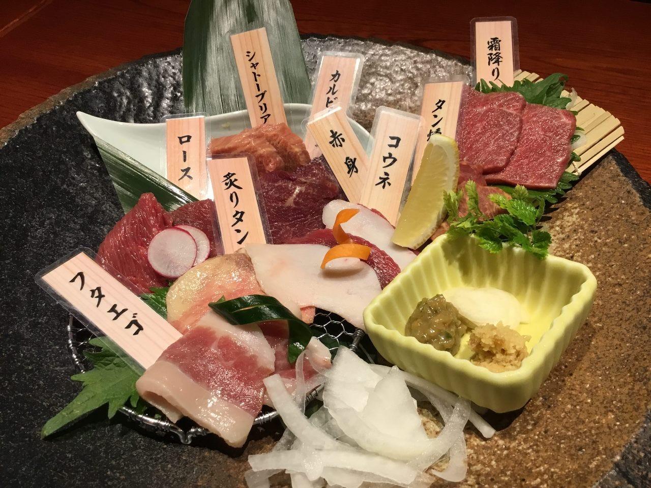 ☆【桜肉7種と桜肉すき焼き、馬づくし会食】 少人数様限定☆料理+ワンドリンク付き全7品4000→3500円